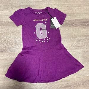 Guess Girl (kids) Purple and Gold Dress Size 6